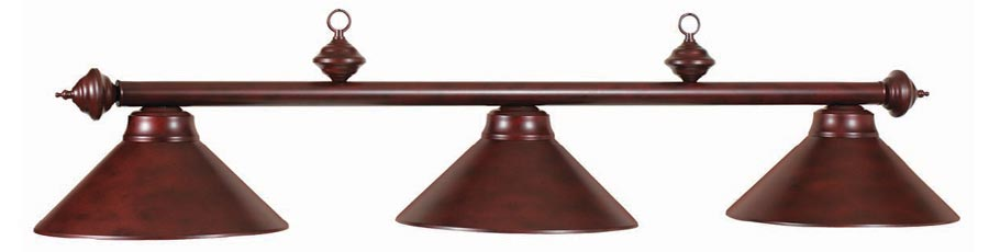 Majestic 3-Shade Walnut Pool Table Lamp / Quality billiard lighting at a discount price